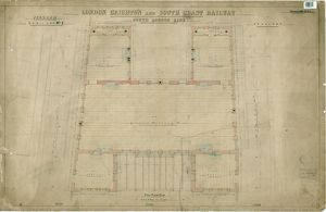 LB&SCR. South London Line. Peckham Rye Lane Station. Drawing No.2 First Floor Plan.