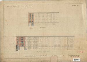 L&N.W and L&Y Railway Huddersfield Station - Proposed New Goods Warehouse Elevations