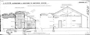 L&N.W.R Alterations & Additions to Smethwick Station Drawing no.3 [1891]