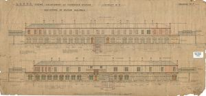 L&NWR Crewe Enlargement of Passenger Station - Elevations of Station Buildings [1904]