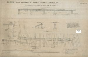 L&NWR Crewe Enlargement of Passenger Station - Extension of Footbridge [c1904]