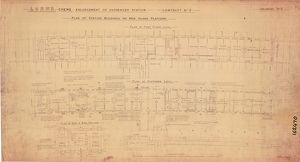 L&NWR Crewe Enlargement of Passenger Station - Plan of Station Buildings [1896]