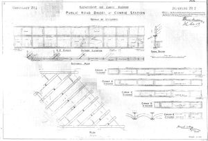 Lochearnhead and Comrie Railway - Drawing 07 - Public road bridge at Comrie Station