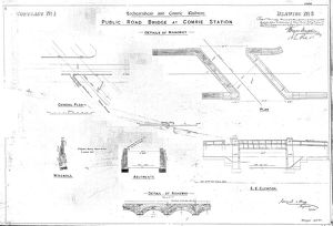 Lochearnhead and Comrie Railway - Drawing 06 - Public road bridge at Comrie Station