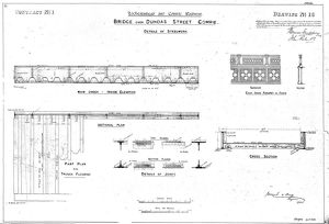 Lochearnhead and Comrie Railway - Drawing 16 - Bridge over Dundas Street, Comrie