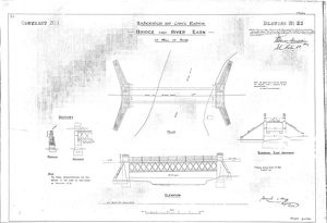 Lochearnhead and Comrie Railway - Drawing 23 - Bridge over River Earn
