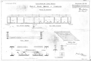 Lochearnhead and Comrie Railway - Drawing 30 - Details of Public road bridge at Tynreoch
