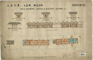 Low Moor Station Booking Offices and Waiting Rooms etc - Plan and Elevations [1899]