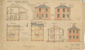 L&S.W.R Aldershot Station Additional Goods Office - Plans, Section and Elevations