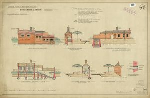 L&SWR Brookwood Station. Improvements. Platform buildings [1902]