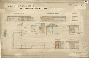 L.S.W.R Parkstone Station - New Platform Roofing [1898]