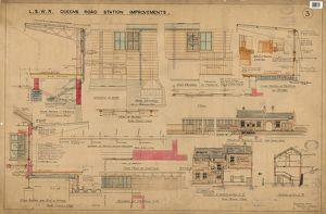 L.S.W.R Queen's Road Station Improvements Drawing no.3 [1908]
