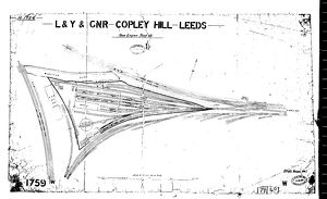 L&Y and GNR Copley Hills Leeds New Engine Shed Site Plan [1905]