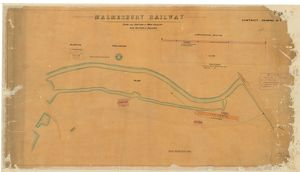 Malmesbury Railway - Plan and Section of Main Culver and Position of Buildings [c1878]