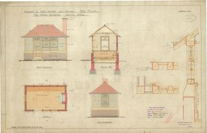 Midland & Great Western Joint Railway - Sea Mills - New Station Buildings - Waiting Shed