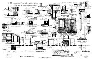 N.E.R Alnmouth Station New S.M. Office Alterations to Booking and Parcel Office [1909]
