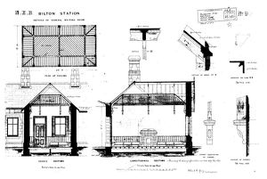 N.E.R Bilton Station - Details of General Waiting Room Additions [1886]