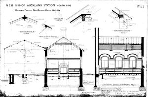 NER Bishop Auckland Station North Side [1889]
