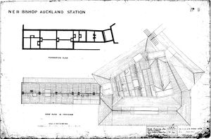 N.E.R Bishop Auckland Station Roof and Foundation Plan [1889]