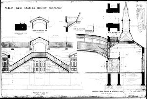 N.E.R New Station at Bishop Auckland [1889]
