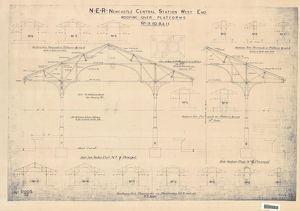 N.E.R Newcastle Central Station West End Roofing over Platforms 8-11 [c1900s]