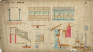 N.E.R. Selby Station - Sections of Footbridge [c.1889]