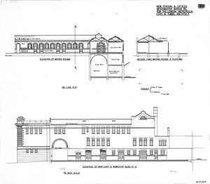 New Station and Offices for the London Necropolis Station - Elevations of Waiting Rooms