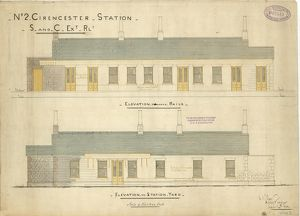 No.2 Cirencester Station - S and C Extension Railway [1883]