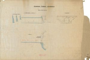 Rhondda Tunnel Entrances - Elevation, Plan and Sections [1890]