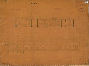 WS&W Salisbury Station - Longitudinal Sections through Station Buildings [1854]