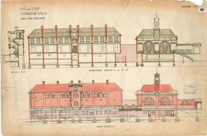 S.E & C.R Tunbridge Wells Station - Down Side Buildings [1911]