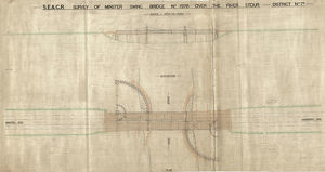 SE&CR Survey of Bridge Over the River Stour Elevation and Plan [ND]