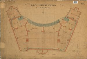S.E.R Hastings Station - Plan of Cellars [1850]