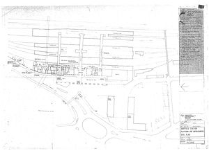 Sheffield Station Platform One Improvements - Site Plan [June 1973]