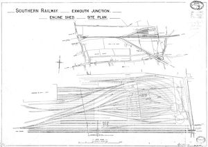 Southern Railway Exmouth Junction Engine Shed Site Plan [1923]