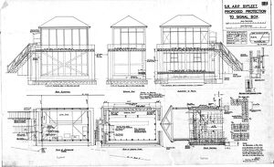 S.R. ARP Byfleet, Proposed Protection to Signal Box [1941]
