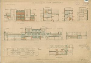 S.R Peckham Rye Station Improvements. Elevations [1935]