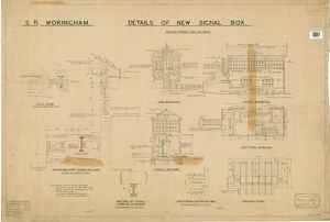 S.R. Wokingham. Details of New Signal Box [1932]