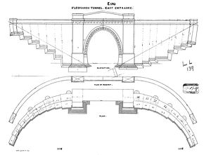 St Leonards Tunnel East Entrance Elevation and Plan [c1925]