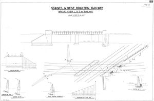Staines & West Drayton Railway - Bridge over L&SW Railway [N.D]