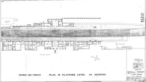 Stoke Station Improvements Plan at Platform Level as Existing [1964]