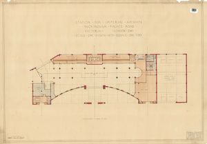 Station for Imperial Airways Buckingham Palace Road Victoria - Mezzanine Floor Plan [1936]
