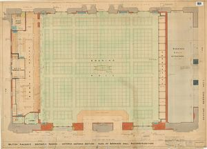 Victoria Station Eastern Section - Plan of Booking Hall Reconstruction [1949]
