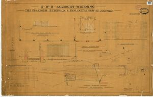 G.W.R. Salisbury Widening - The Platform Extension and New Cattle Pens at Codford [1895]