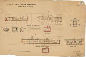 L.S.W.R. Yeovil Junction Improvements- General Plan of Offices of up platform
