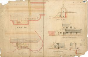 S.E.R Plumstead New Station including plans, elevations and section [1859]