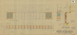 Victoria Eastern Section Booking Hall Reconstruction - Layout of Telephone Cabinets [1949]