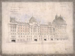 Victoria Station. Mainbuilding and Hotel Annexe (11/1900)