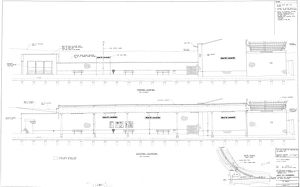 West St Leonards - Existing and Proposed Elevations of Down Platform [1986]
