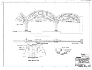 York Station End Screens Stage 1 - Rope Arrangements and Arches [c1971]